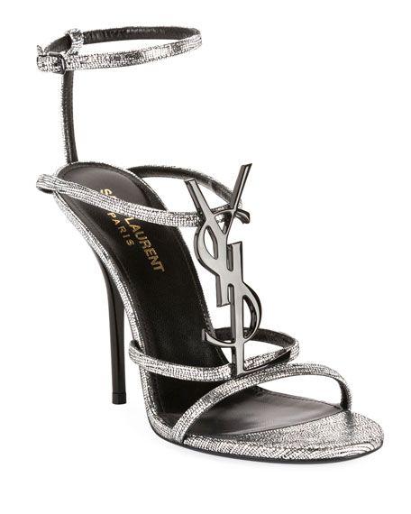 Cassandra Metallic YSL Sandals by Saint