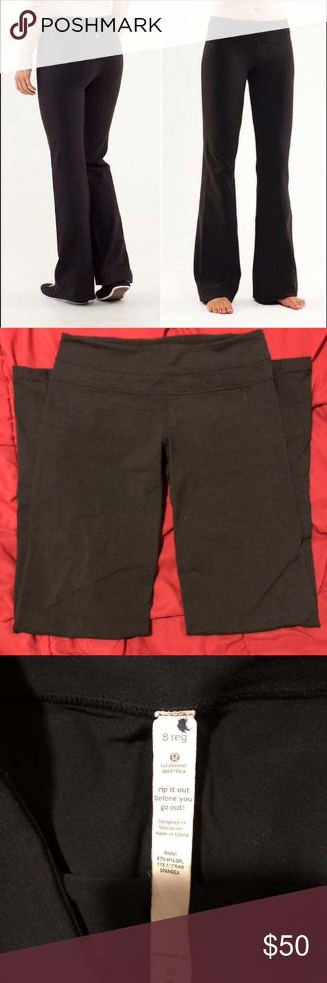 267ac76c4 Lululemon Fit Flare Leg Yoga Pants Leggings Lululemon Fit Flare Leg Yoga  Pants Leggings