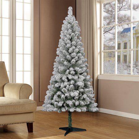 Holiday Time 6 Flocked Greenwood Pine Artificial Christmas Tree Walmart Walmart Christmas Trees Pine Christmas Tree Green Christmas Tree