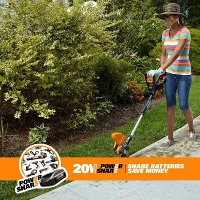 Worx 20v Battery Charger Included 20 Volt Trimmers Outdoor Power Equipment Best