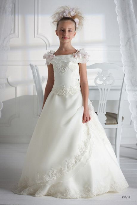 negozio online eeddb a2eb3 Vestiti di comunione bambina   dress   Dresses, Fashion ...