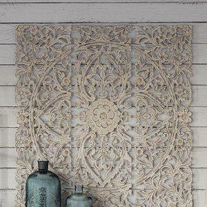3 Piece Wood Plaque Wall Du00e9cor Set Medallion Motif Floral Decoratie Diys Interieur Diy