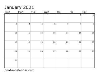 2021 Printable Calendar Template Download 2021 Printable Calendars in 2020 | Printable calendar pdf