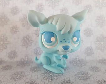 Winter True Blue Kangaroo Ooak Custom Littlest Pet Shop Repaint