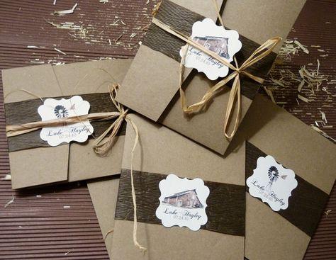 Barn Wedding Rustic Ultimate Package Wedding Invitation set by designunfurls, $12.00