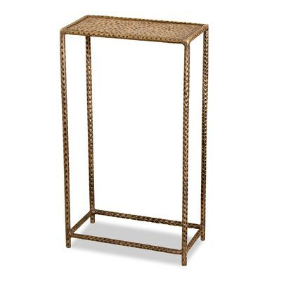 Interlude Khan End Table Color Antique Brass Drink Table End Table Sets Side Table