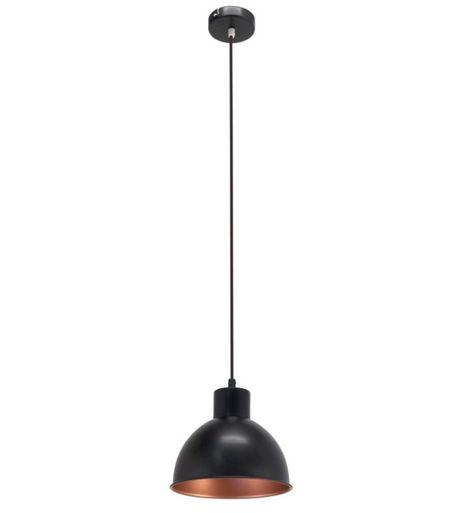 Zwarte Hanglamp Picena Zwart Koper Hanglamp Koperen Hanglampen Verlichtingsarmaturen
