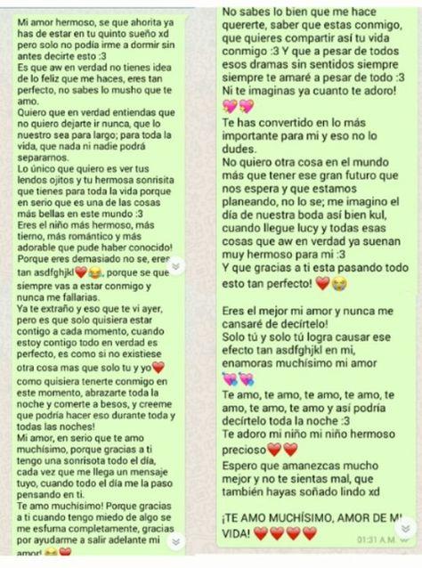 Imagen de amor, whatsapp, and chat