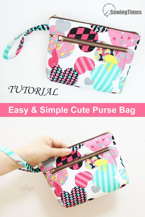 Sewing Machine Projects, Sewing Projects For Beginners, Sewing Tutorials, Tutorial Sewing, Bag Tutorials, Tutorial Crochet, Sewing Kids Clothes, Sewing For Kids, Barbie Clothes