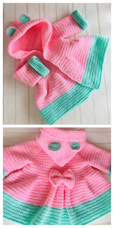 Crochet baby 238831586477809910 - Bear Hooded Cardigan Free Crochet Pattern & Paid Source by DIYDailyMag Crochet Baby Sweater Pattern, Newborn Crochet Patterns, Crochet Baby Sweaters, Baby Sweater Patterns, Crochet Hoodie, Baby Girl Crochet, Crochet Baby Clothes, Crochet Baby Dresses, Crochet Baby Stuff