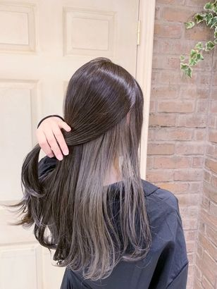 2020年冬 ロング インナーカラーの髪型 ヘアアレンジ 人気順 4