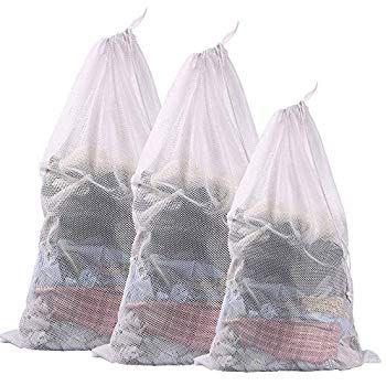 Eono By Amazon Set Of 3 Sturdy Mesh Laundry Bag 2 Extra