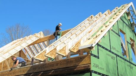 Using Open Web Trusses As Rafters For Superinsulated Roofs Greenbuildingadvisor Roof Trusses Roof Truss Design Roofing