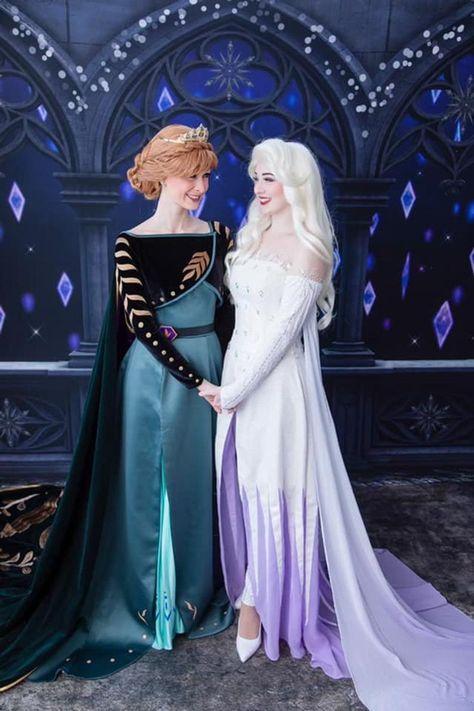 Disney Princess Costumes, Disney Princess Frozen, Disney Princess Pictures, Disney Princess Dresses, Disney Dresses, Disney Costumes, Princess Anna Dress, Disney Princess Fashion, Ice Princess