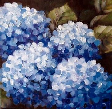 27 Trendy Flowers Blue Drawing Simple Acrylic Painting Flowers Hydrangea Painting Flower Painting