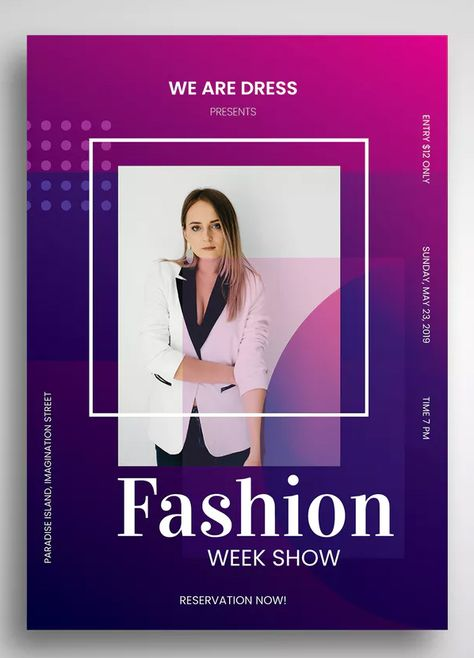 Fashion Event Flyer Template PSD