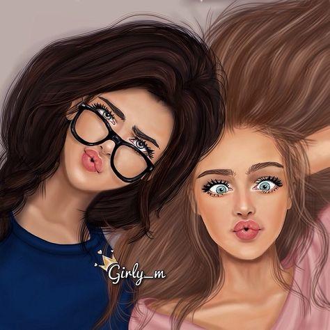 Beautiful Girls, Friends! / Belle Ragazze, Amiche! - Art by girly_m, Websta (Webstagram)