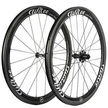 Wilee Bike Carbon Fiber Road Bike Wheels 700c 50mm Glossy 23 Width