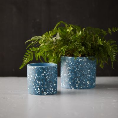 Terrazzo Cylinder Planter In 2020 Planters Flower Pots Outdoor Large Plant Pots