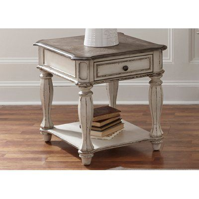 Antique White End Table Magnolia Manor With Images White End