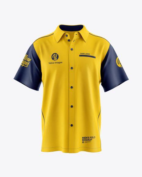 Download Men S Polo Mockup In Apparel Mockups On Yellow Images Object Mockups Clothing Mockup Shirt Mockup Design Mockup Free PSD Mockup Templates