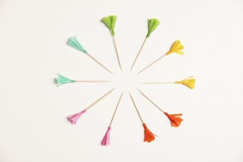 DIY colorful food picks. #ASubtleRevelry