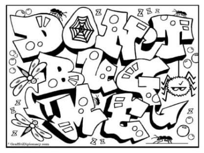Graffiti Art Coloring Pages You'll Love