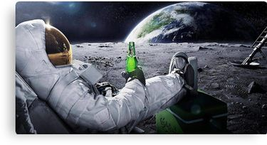 Space Beer Canvas Print By Jaden Veiga Wallpaper Space Poster