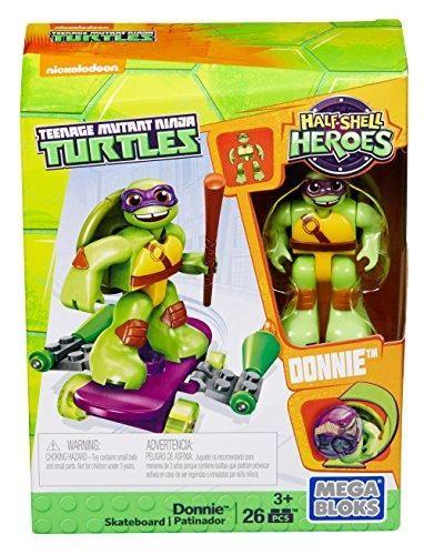 Sonic Ninja Turtle Toys : sonic, ninja, turtle, Bloks, Teenage, Mutant, Ninja, Turtles, Half-Shell, Heroes, Donnie, Skateboard, Turtles,, Shell, Heroes,, Turtle