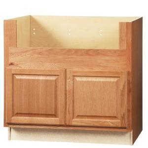Hampton Bay Hampton Assembled 36x34 5x24 In Farmhouse Apron Front Sink Base Kitchen Cabinet I In 2020 Oak Kitchen Cabinets Kitchen Cabinets With Sink Apron Front Sink