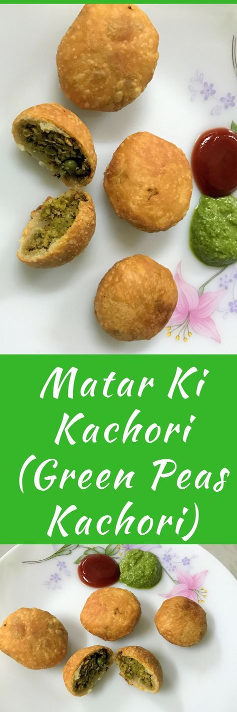 Matar ki Kachori is delicious and spicy snack or side dish. Golden and crispy on the outside and filled with cooked mashed peas and some spices stuffing inside. #Snacks #VegetarianRecipe #SpicyFood