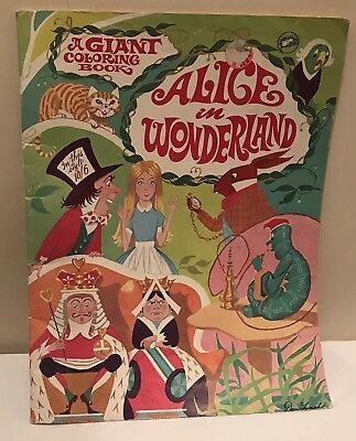 P Published By Playmate Incorporated P P Made In Canada P P Condition Some Pages Have Been Colored Disney Alice Alice In Wonderland Coloring Books