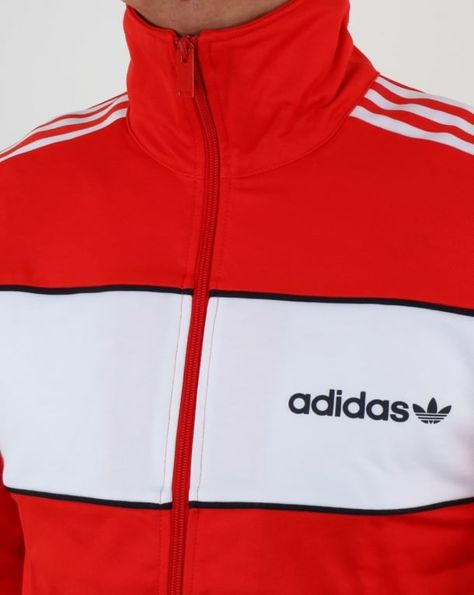 Adidas Originals Block Track Top Core Red,tracksuit,jacket