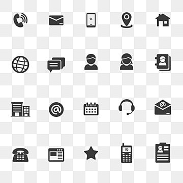 Set Of Contact Icon In Glossy Red Design Contact Icon Address Png And Vector With Transparent Background For Free Download Business Card Icons Glyphs Vector Business Card