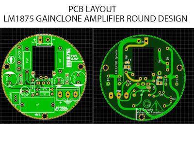 Lm1875 Power Amplifier Rounded Pcb Design Gerber File Elektronik Hobi