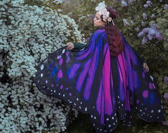 Motte Flugel Kostum Schmetterlingsfee Kap Flugel Festival Etsy Fairy Wings Costume Wings Costume Rose Scarf