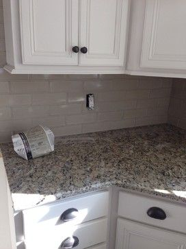 Santa Cecilia graniteneed backsplash ideas please Kitchen