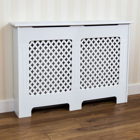 Vida Designs Oxford Radiator Cover White Medium Image 1