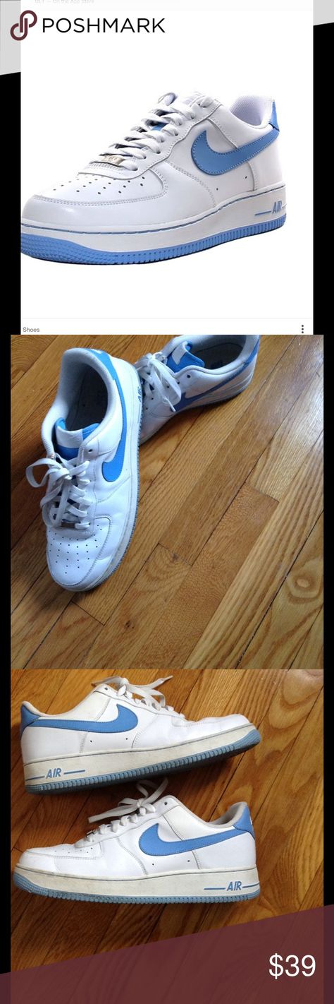 Nike Men's Air Force 1 1st picture is a stock photo. Gently worn Nike sneakers still bright white. A few minor signs of wear as pictured. Retail $90+ Nike Shoes Sneakers