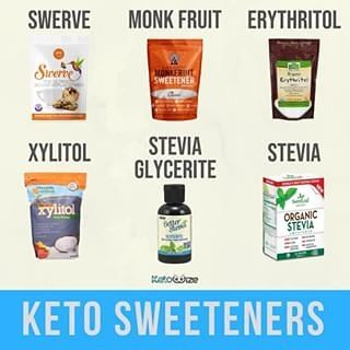 Keto approved sweeteners @lakanto golden monk fruit and