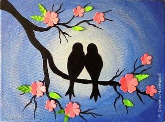 80 Easy Acrylic Canvas Painting Ideas For Beginners Art Painting Bird Art Canvas Painting