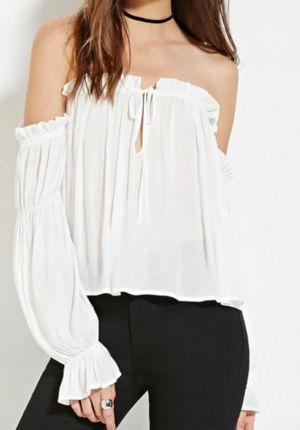 Forever 21 off the shoulder white blouse  | TrufflesandTrends.com