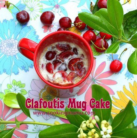 Clafoutis mug cake