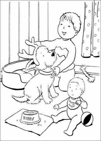 Kinder Spielen Mit Einem Hund Rozmalovki Do Svyat Another Ausmalbilder Mandala Ausmalbi Weihnachtsmalvorlagen Weihnachtsfarben Wenn Du Mal Buch