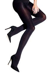 Charnos 100 Denier Opaque Tights, Soft Matt Black Out Opaques For Everyday Wear