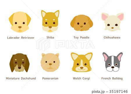 年賀状にも使える 様々な犬種のイラスト 犬 イラスト 年賀状