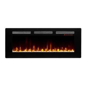 Millner Recessed Wall Mounted Electric Fireplace In 2020 Wall