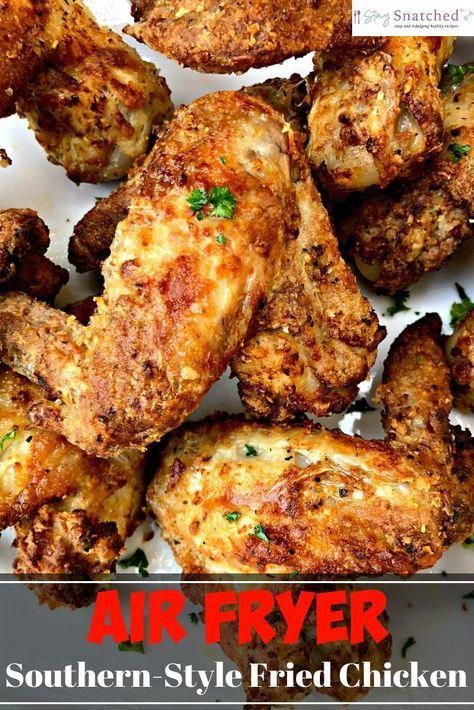 Air Fryer Traditional Southern Soul Food Buttermilk Fried Chicken Is A Qui Air Fryer Recipes Chicken Wings Air Fryer Recipes Chicken Southern Recipes Soul Food