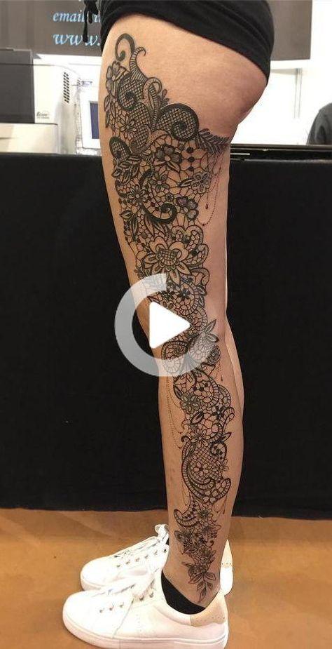 Vier Vrouwelijkheid Met 50 van de Mooiste Lace Tattoos je ooit hebt gezien