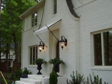 Awnings Raleigh Awning Company Residential Awnings Front Door Awning Exterior Brick